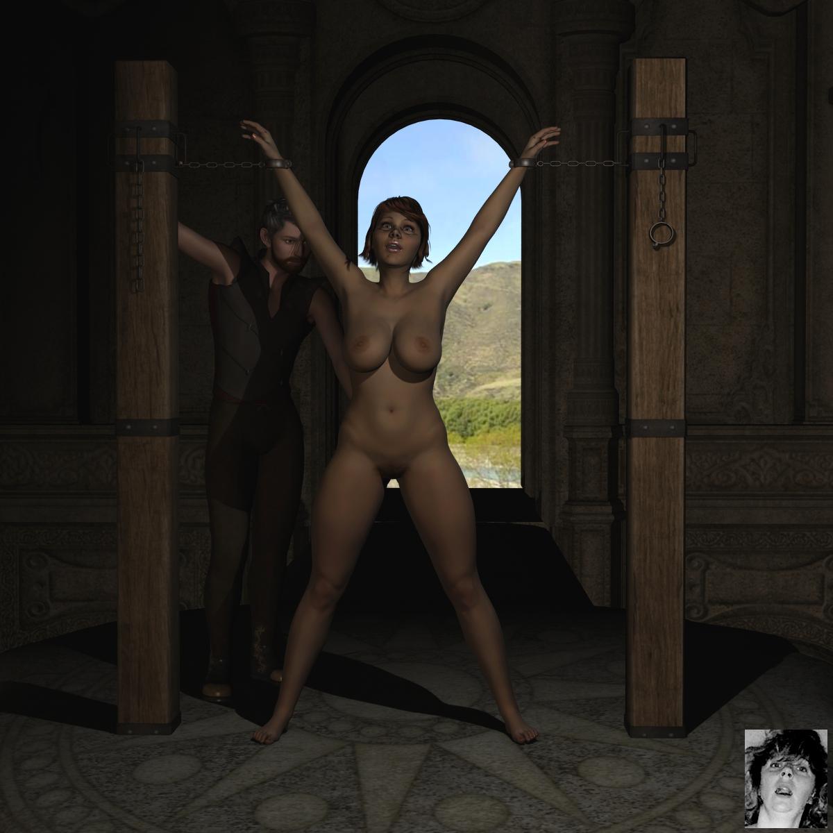 Nude girl torture rack