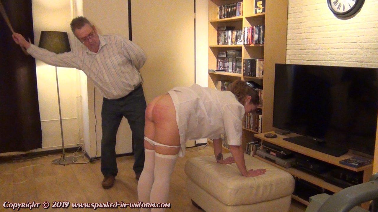 Bare buttocks nude nurse spank