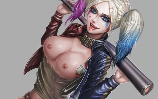 Hot harley quinn batman boobs naked