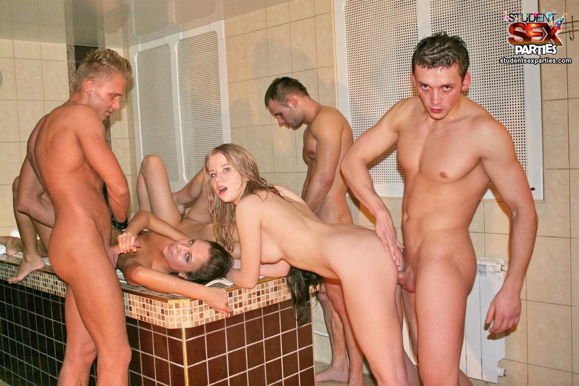 Hot tub sex party