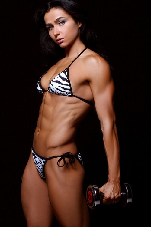 Beautiful naked women with abs