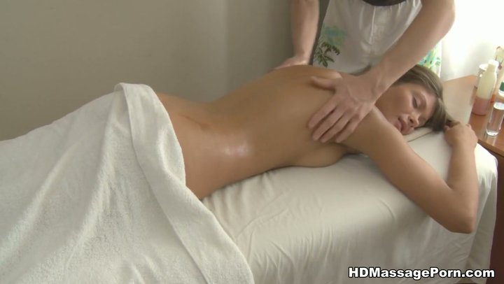 Skinny girl hot oil massage