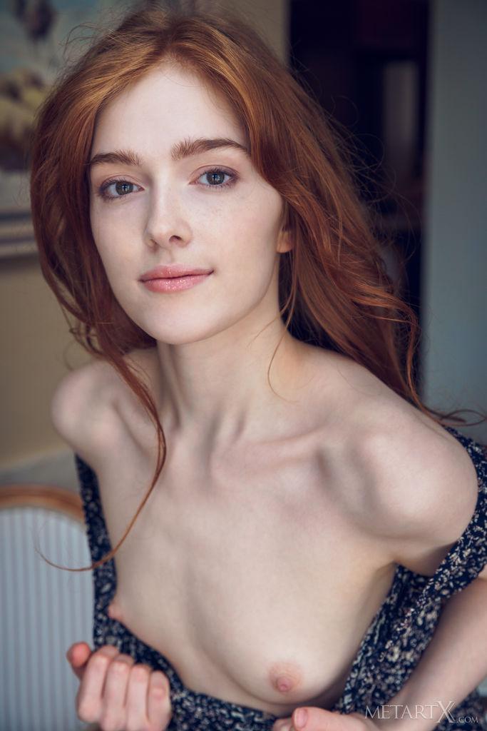 Naked skinny redhead nude