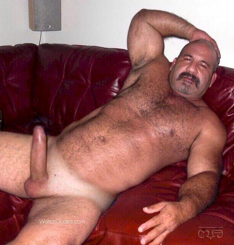 Mature hairy naked men