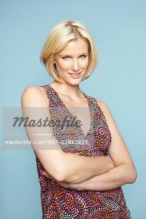 Pretty mature blonde woman