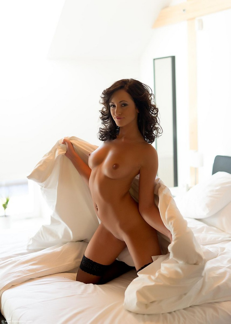 Sexy lingerie shaved pussy