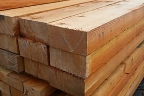 Rough sawn douglas fir lumber