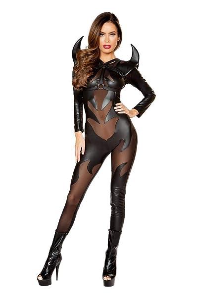 Sexy latex devil costume