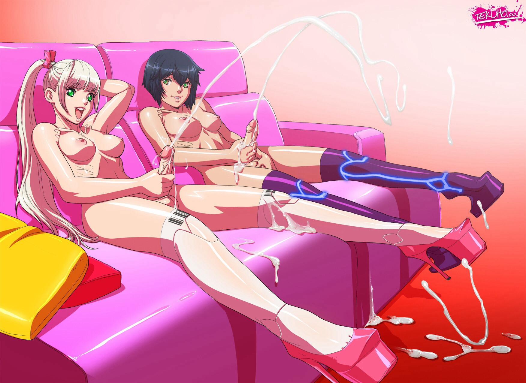 Anime tranny cum shots