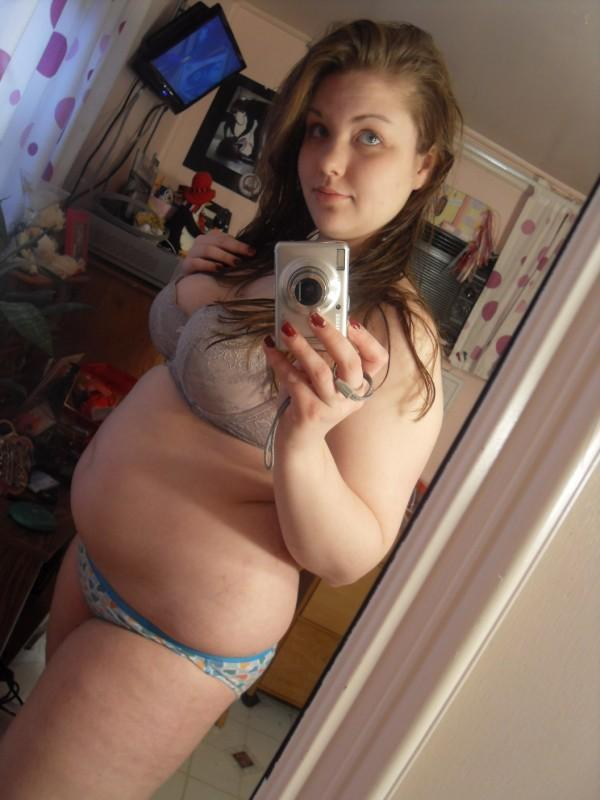 Ugly girl nude selfie