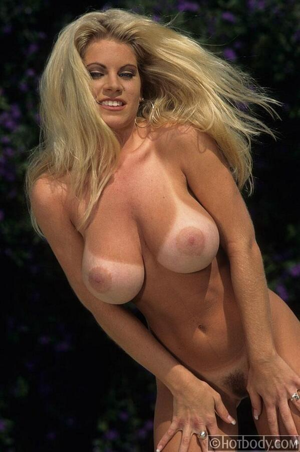 Perfect tits with tan lines nude