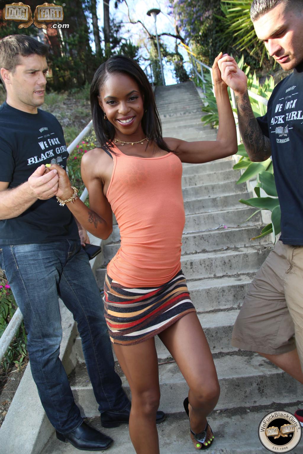 Skinny black girl ass porn