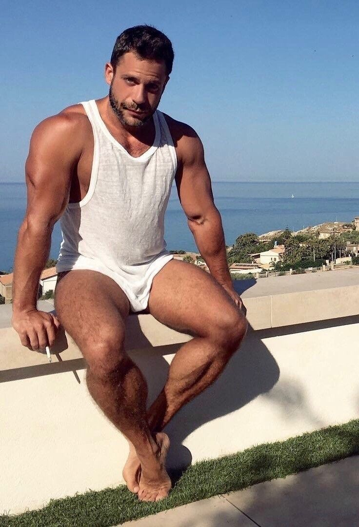 Hot hairy man legs