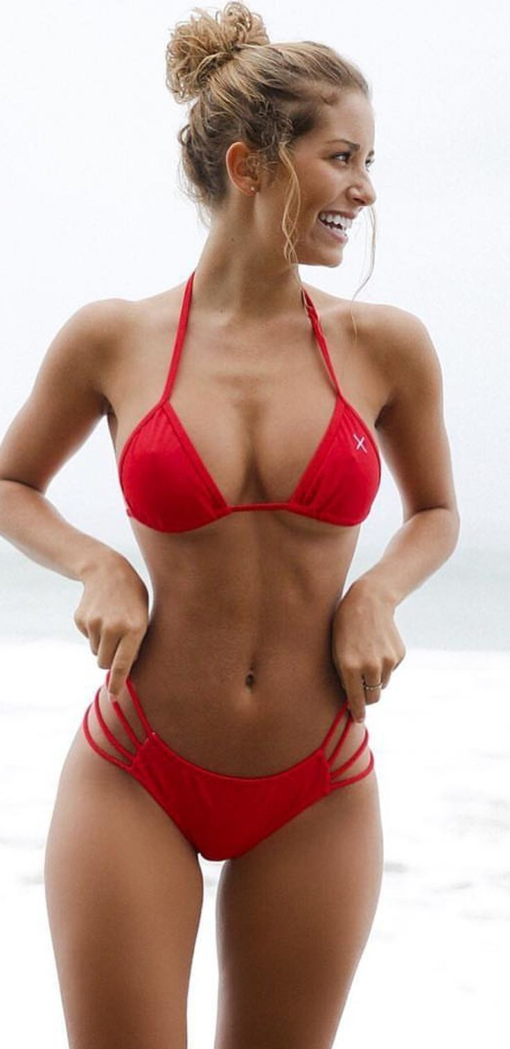 Girls wearing only bikini tops