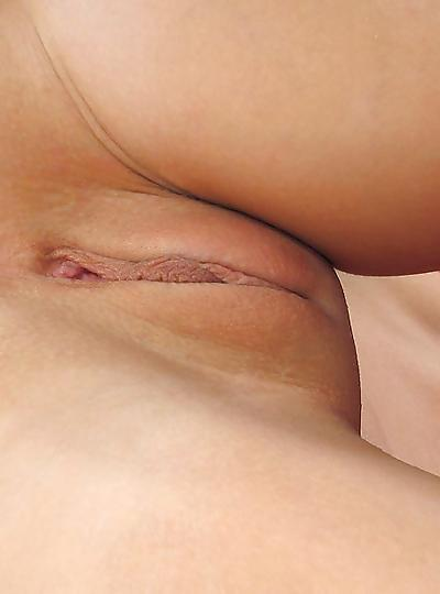 Shaved wet pussy panties