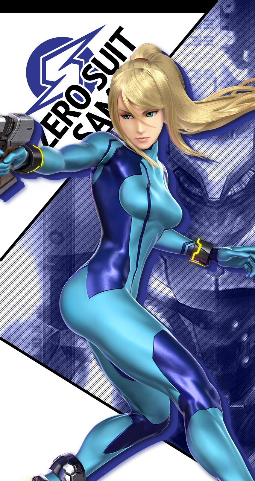 Samus zero suit big boobs