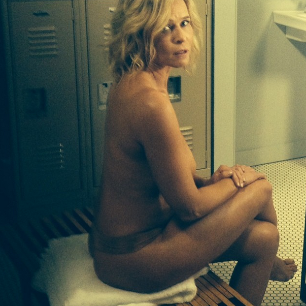 Tv host poses nude