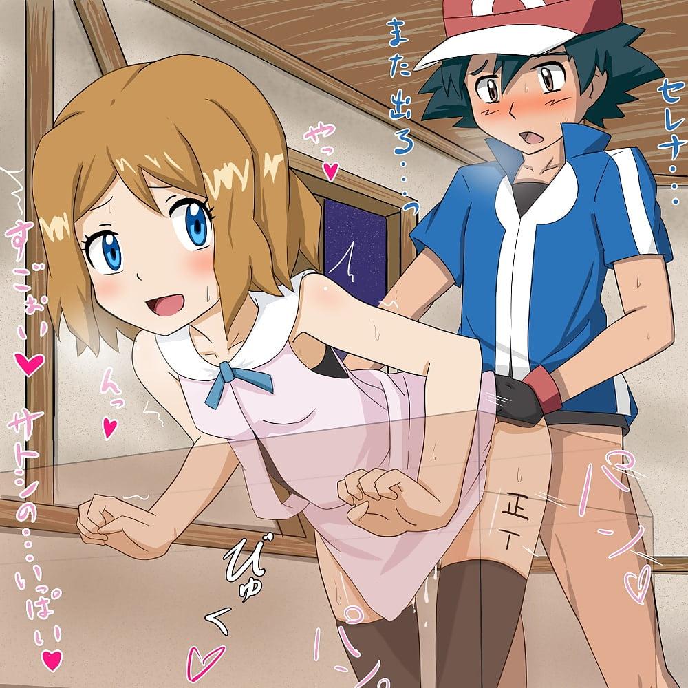 Pokemon ash y serena hentai
