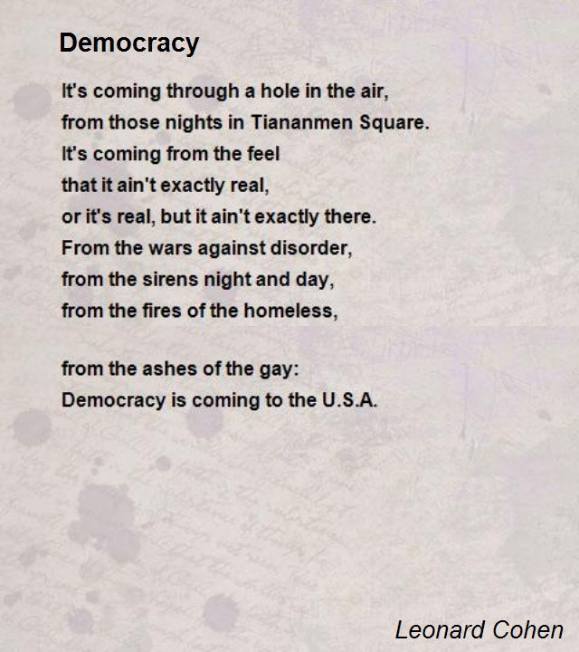 Langston hughes analysis poem democracy