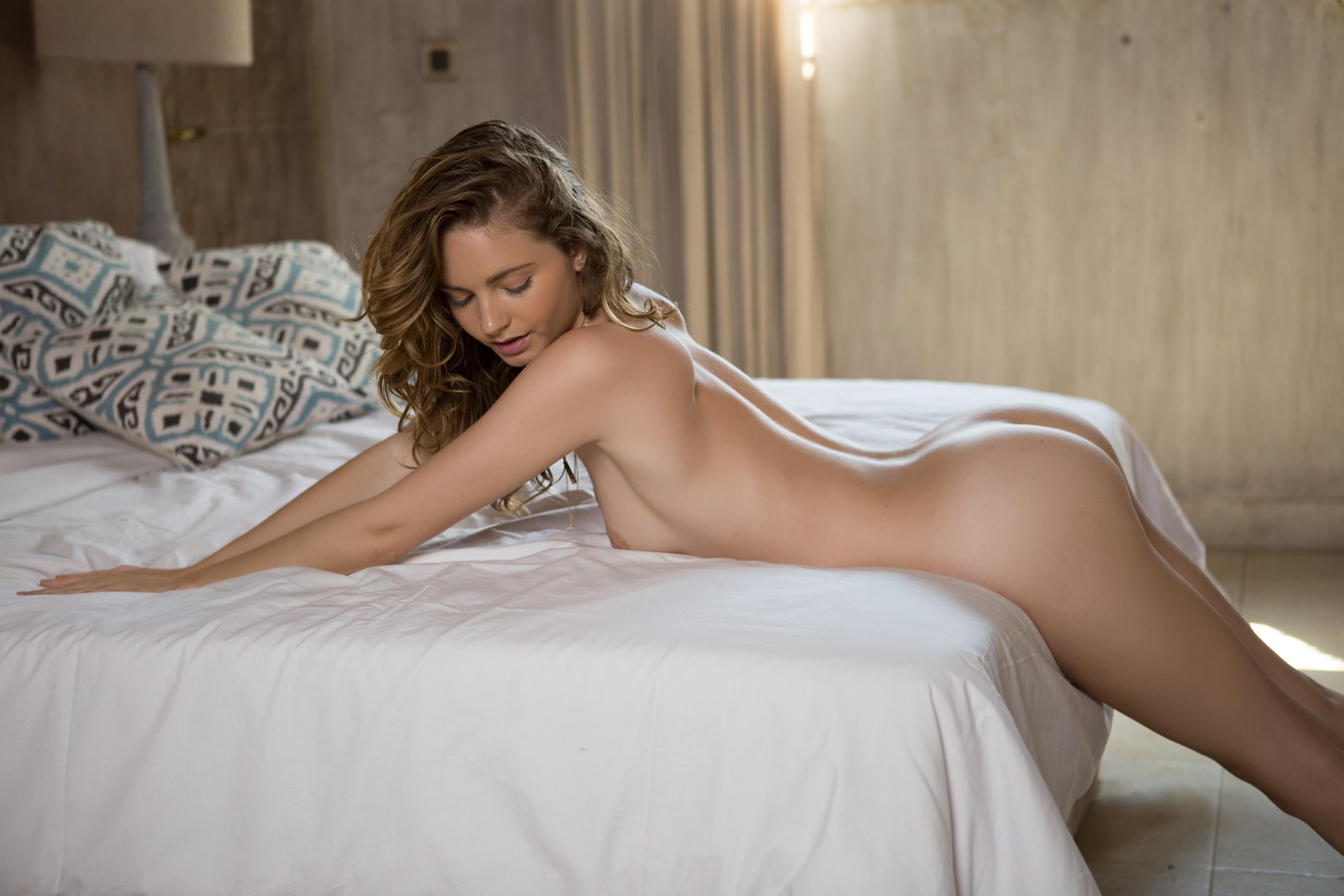 Naked on bed image fap