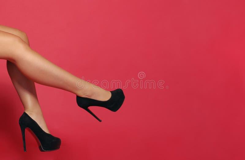 Beautiful girls black high heels