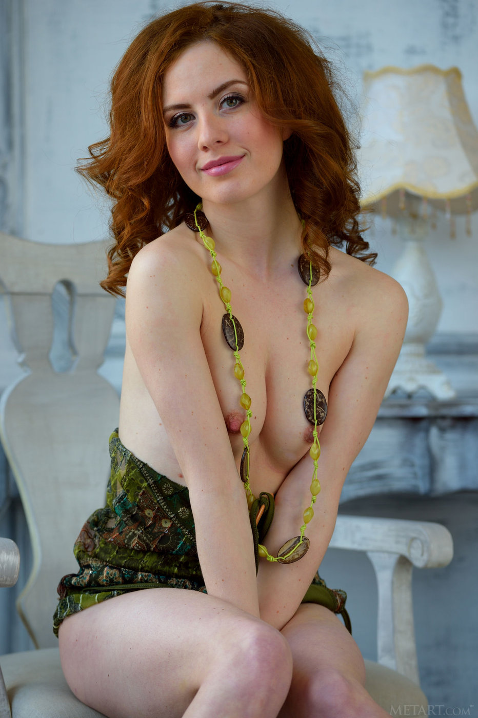Redhead hairy pussy metart