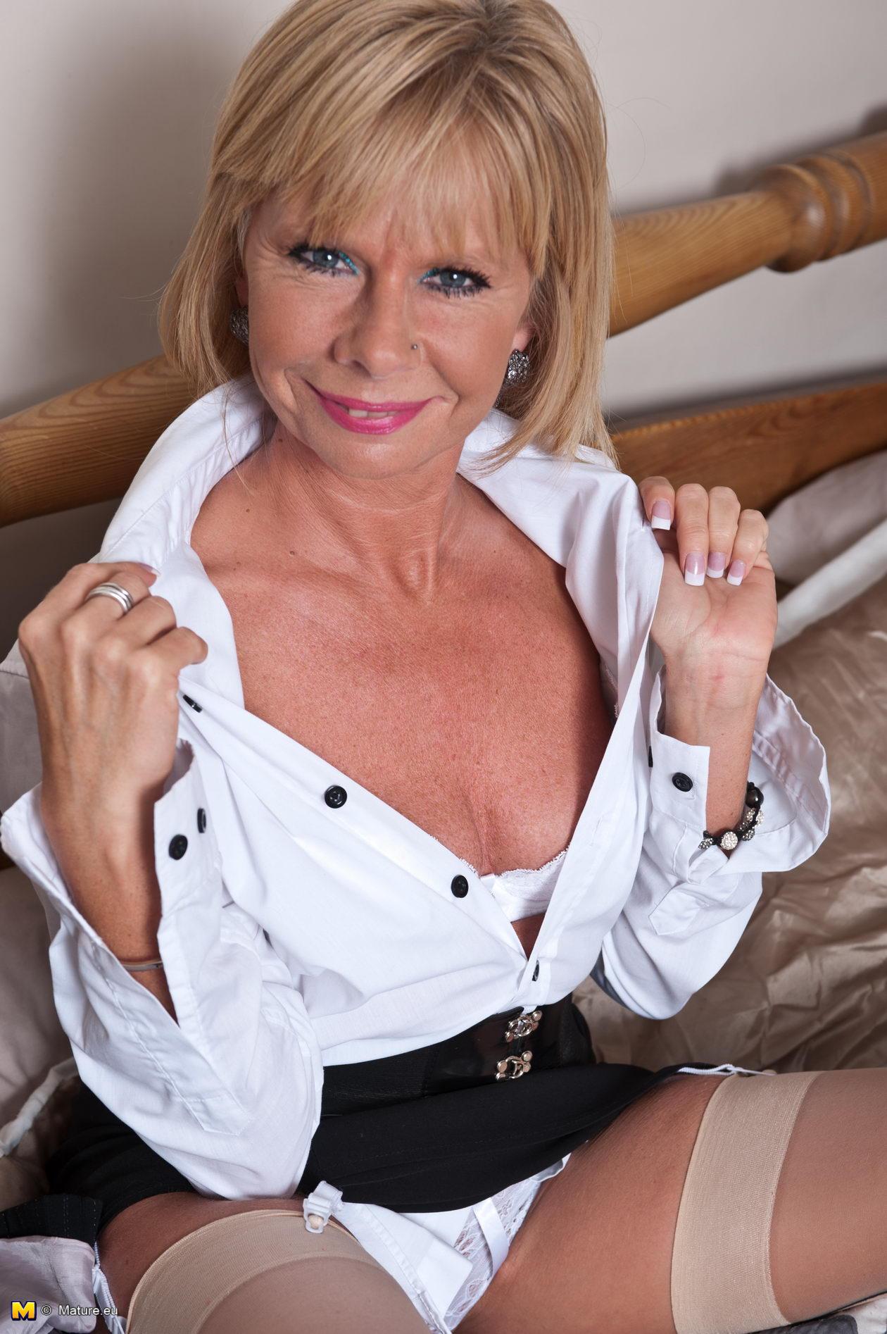 British blonde mature lady