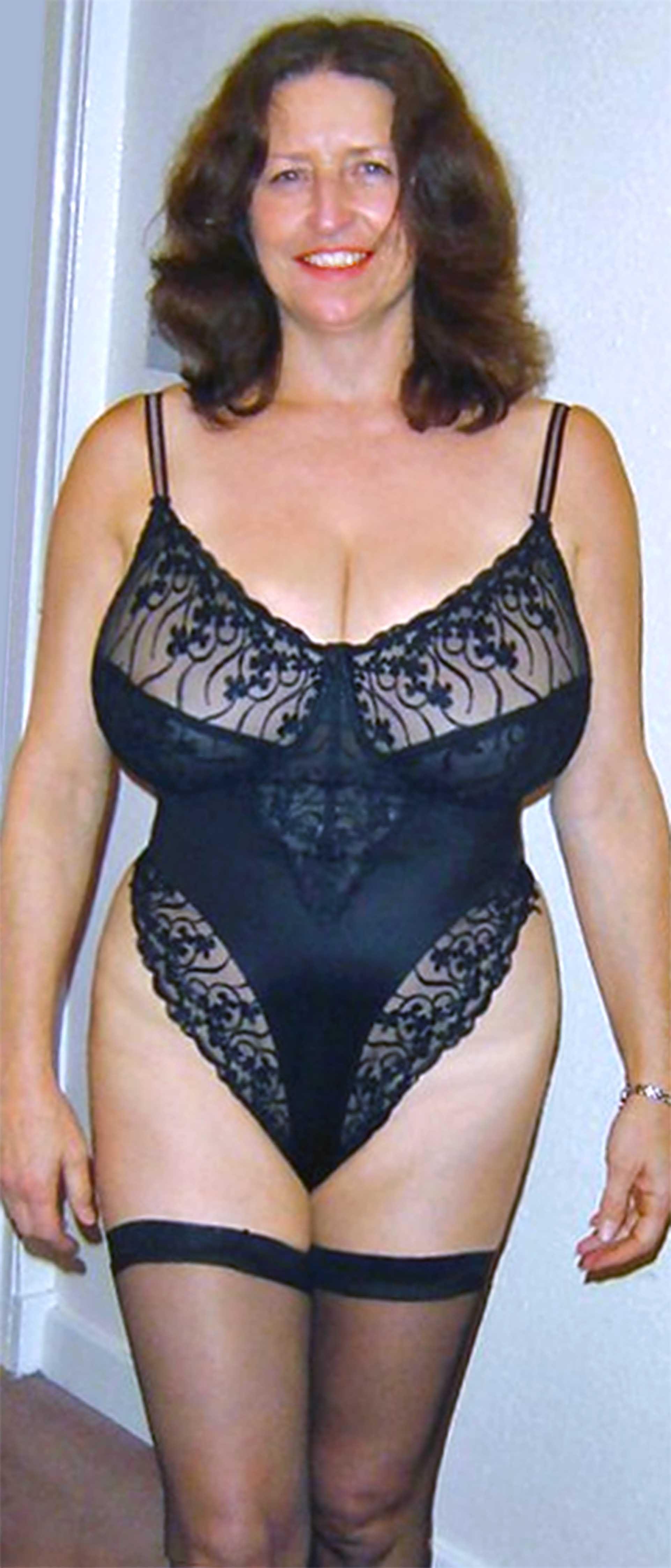 Mature women see through panty