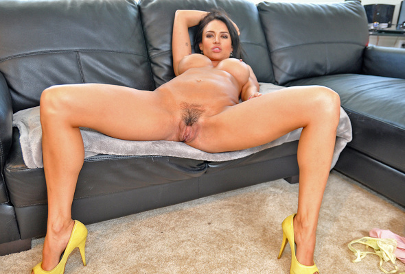 Big tits legs spread open pussy