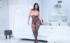 Hot slender woman in colon