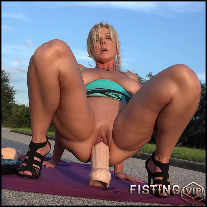 Naughty alysha monster dildo