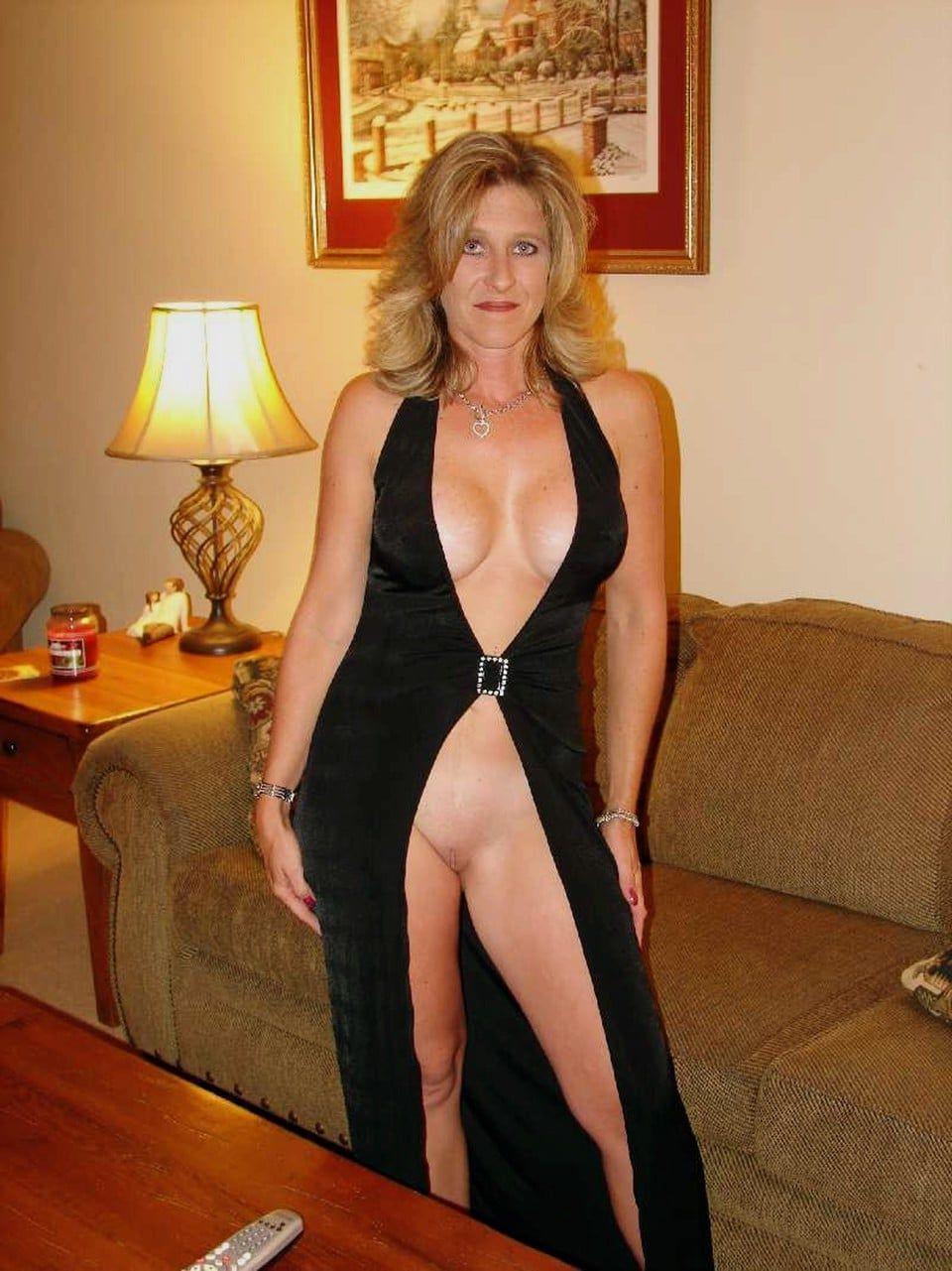 Slut wife in slutty dress