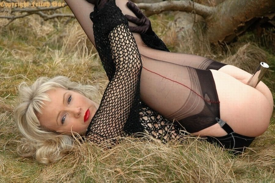 Pantyhose nylons stockings outdoor
