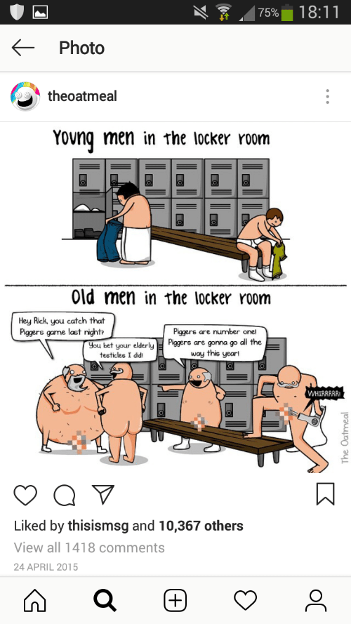 Old men locker room