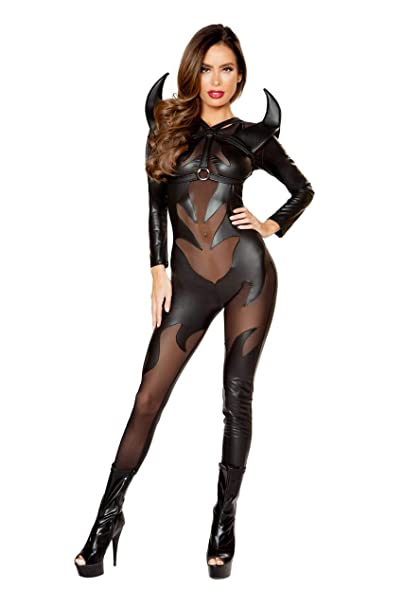 Sexy latex devil costume