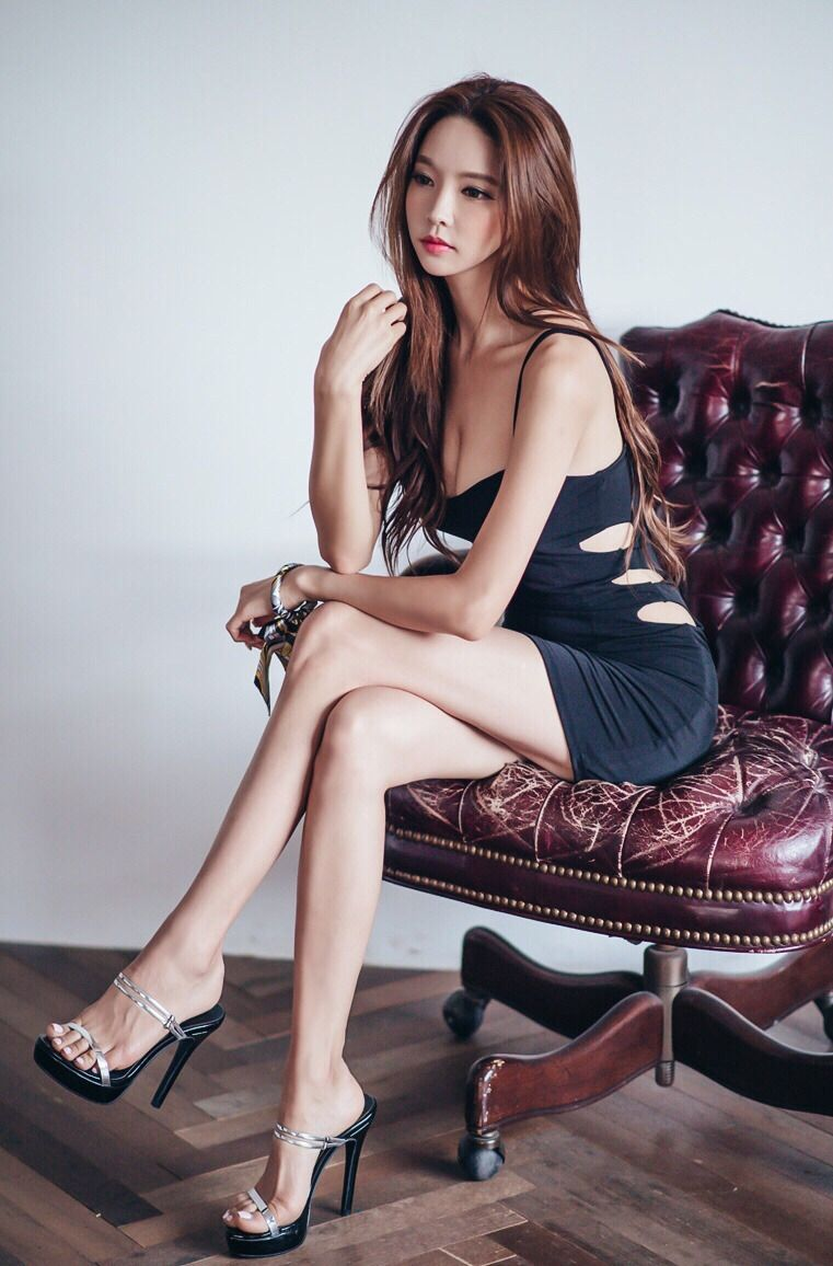 Asian women high heels