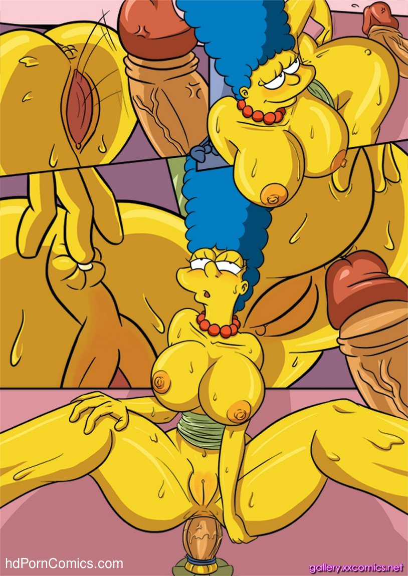 Marge simpson glory hole comic