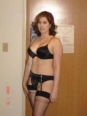 Real wives posing in lingerie