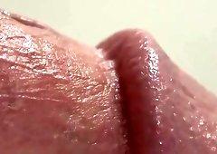 Hairless erect cocks up close