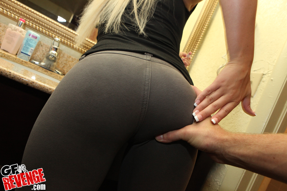 Girls in yoga pants having sex
