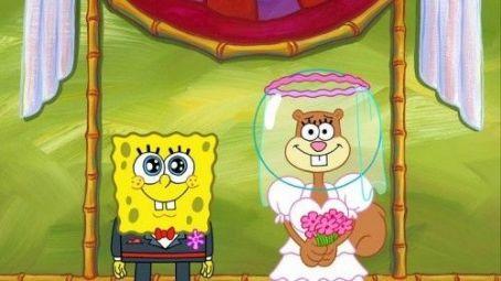 Sandy cheeks and spongebob squarepants