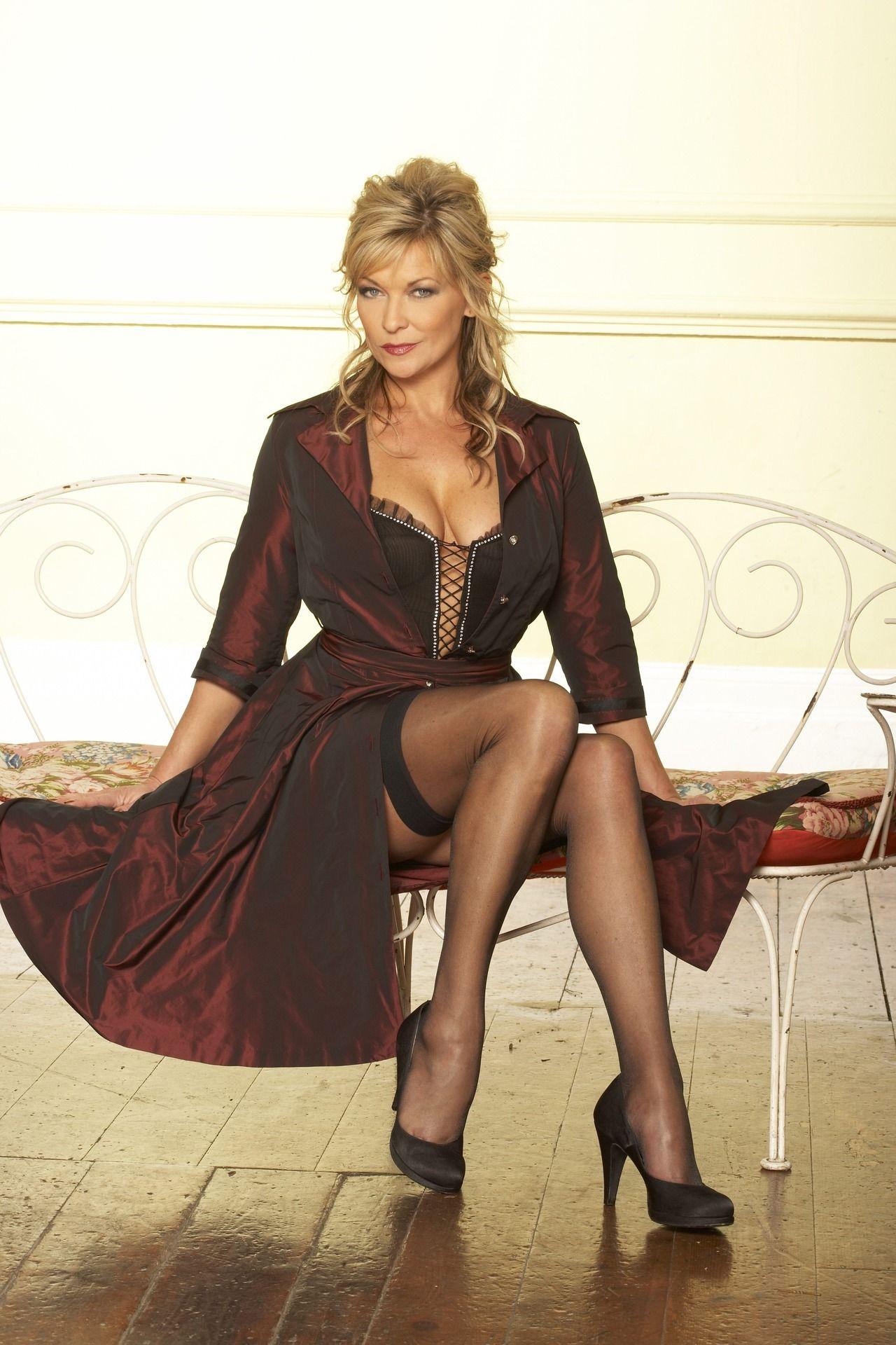 Sexy mature women nylon legs