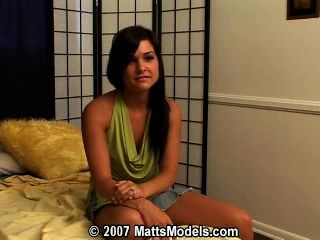 Brunette teen first time audition