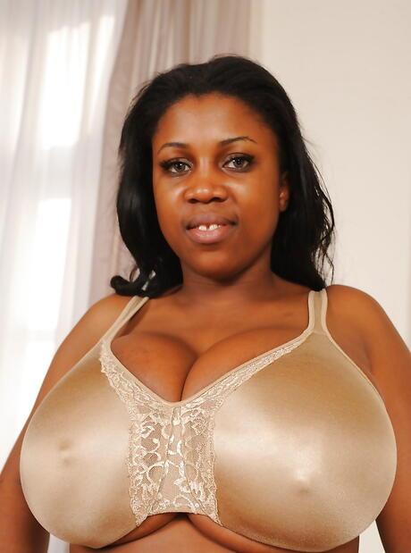 Big black breast oiled