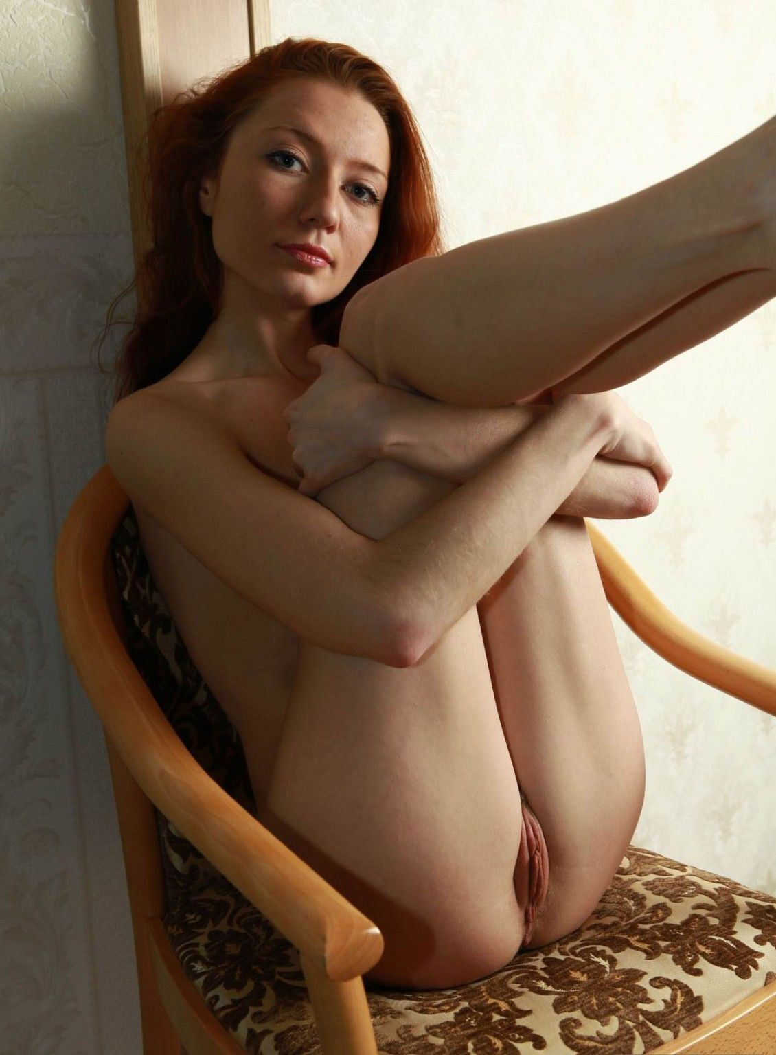 Naked skinny redhead nude