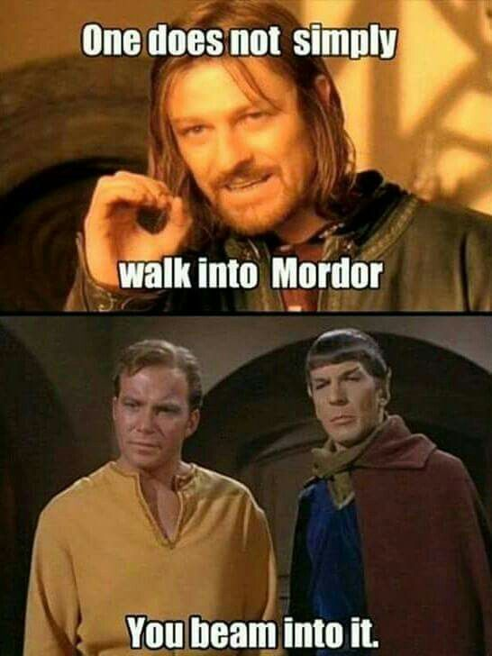 Lord of the rings star trek crossover