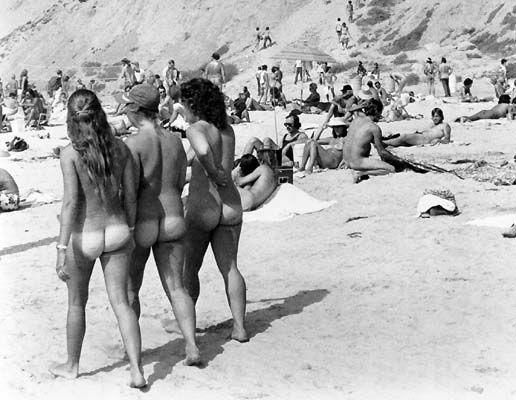 Nude big retro beach