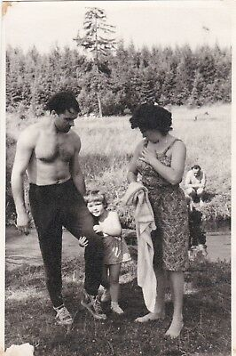Vintage russian nudist family