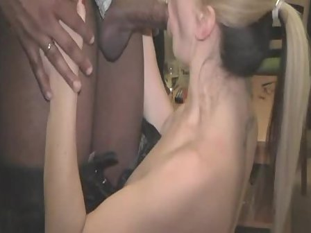Homemade blonde wife black cock