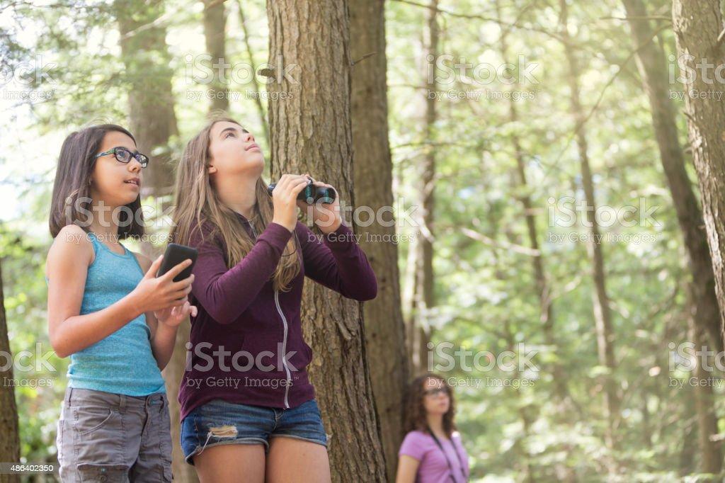 Teen teen girl explores girl